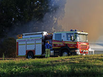 bushfire robina 免版税库存图片