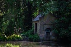 Bushi Park. House next to Lake, Bushi Park, London Royalty Free Stock Photography