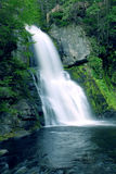 Bushkill falls. Bright waterfall location in the heart of Pennsylvania, United States. Forget your problems, leave behind all the stress stock photography