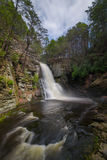 Bushkill Falls from below Stock Photo