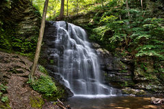 Bushkill Falls in the Pensylvania Pocono Mountains Stock Images