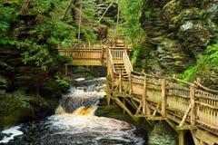 Bushkilll Falls elevated walkway Stock Images