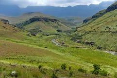 The Bushman's River in Giants Castle stock image