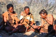 Bushman. Indigenous bushman in the Kalahari desert from San Tribe, Botswana. The San bushmen indigenous community of Southern Africa, whose territory spans most Royalty Free Stock Images