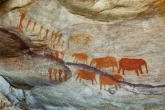 Bushman cave paintings in Cederberg Stock Photography