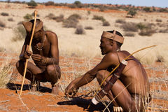 Bushman hunters Royalty Free Stock Photos