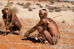Bushman hunters Stock Images