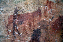 Bushman painting Stock Photo