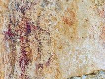 Bushman Rock Art in Ha Khotso royalty free stock photos