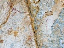 Bushman Rock Art in Ha Khotso stock photos