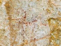 Bushman Rock Art in Ha Khotso stock image