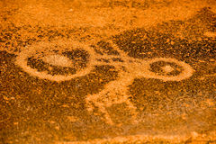 Bushman Rock Engravings - Namibia Stock Photo