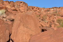 Bushman Rock Engravings - Namibia Stock Photos