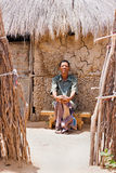 Bushman sitting in shade Royalty Free Stock Photography