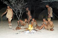 Bushmen dancer Stock Photography