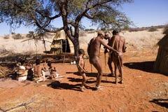 Bushmen dancing Royalty Free Stock Images