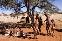 Bushmen dancing Stock Photos