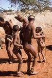 Bushmen dancing Royalty Free Stock Photo