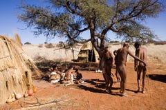 Bushmen dancing Royalty Free Stock Photos