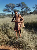 Bushmen hunters in a fields search Royalty Free Stock Photos