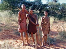 Bushmen hunters in a fields search Royalty Free Stock Photography