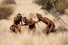 Bushmen hunters Royalty Free Stock Image