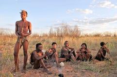 Bushmen in the kalahari desert Royalty Free Stock Image