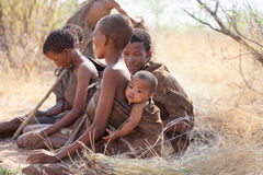 Bushmen of the Kalahari desert Stock Photos