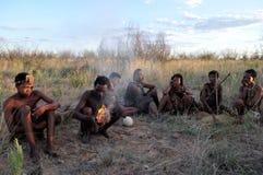 Bushmen in the Kalahario desert Stock Image