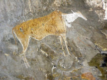 Bushmen Paintings. In caves in the Drakensberg, Kwa Zulu Natal South AFrica Royalty Free Stock Photography