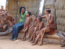 Bushmen people Stock Image