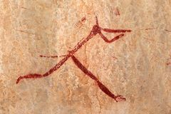 Bushmen rock painting Royalty Free Stock Images