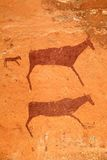 Bushmen rock painting Stock Photography