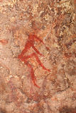 Bushmen rock painting Royalty Free Stock Photo