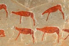 Bushmen rock painting Royalty Free Stock Photo