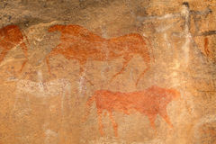 Bushmen rock painting Royalty Free Stock Photos