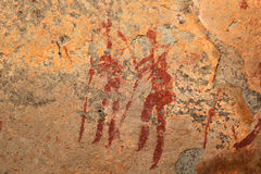 Bushmen rock painting Royalty Free Stock Image