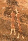 Bushmen rock painting Stock Images