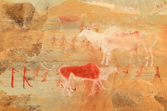 Bushmen rock painting Stock Photo