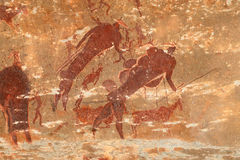 Bushmen rock painting Royalty Free Stock Photography