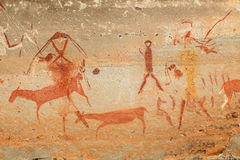 Bushmen rock painting Stock Photos