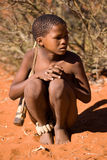 Bushmen san child Royalty Free Stock Photos