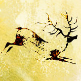 Bushmen san rock painting of antelope Stock Photography