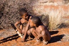 Bushmen sun children Stock Images