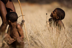 Bushmen sun children Royalty Free Stock Photos
