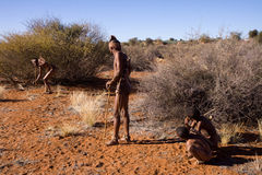 Bushmen sun family Royalty Free Stock Photography