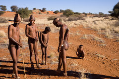 Bushmen sun family Royalty Free Stock Images