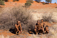 Bushmen sun family Royalty Free Stock Image