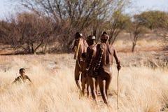 Bushmen sun family Royalty Free Stock Photography