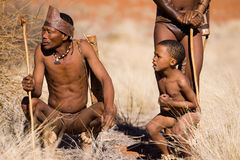 Bushmen sun Royalty Free Stock Images